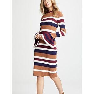 Endless Rose Striped Midi Sweater Dress